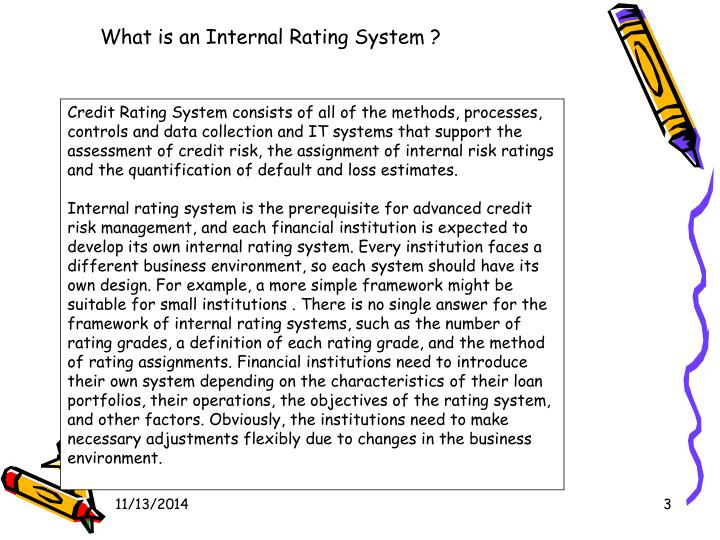 What is an Internal Rating System ?