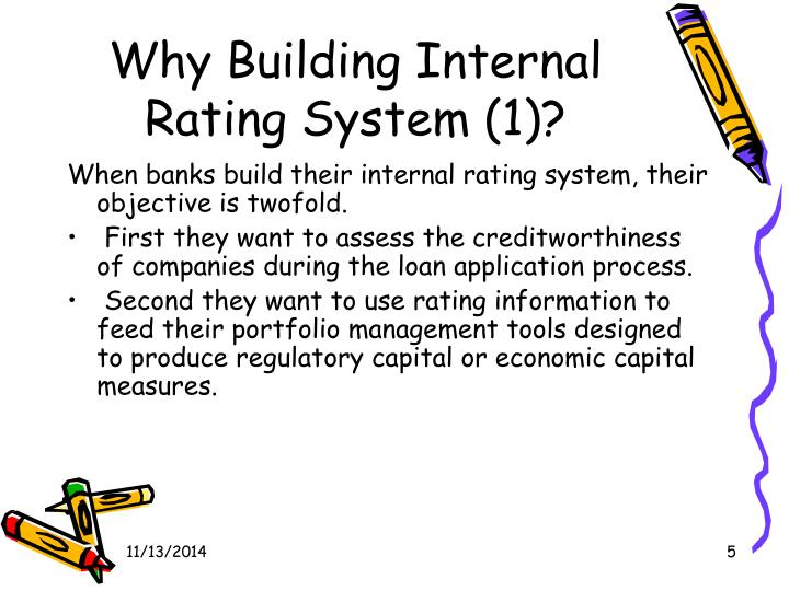 Why Building Internal Rating System (1)?