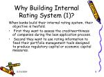 why building internal rating system 1