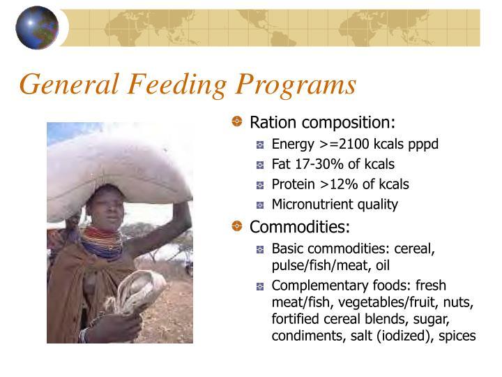 General Feeding Programs
