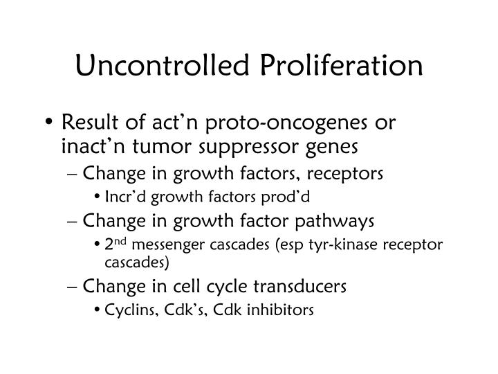 Uncontrolled Proliferation