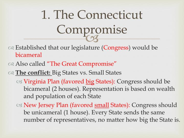 1. The Connecticut Compromise