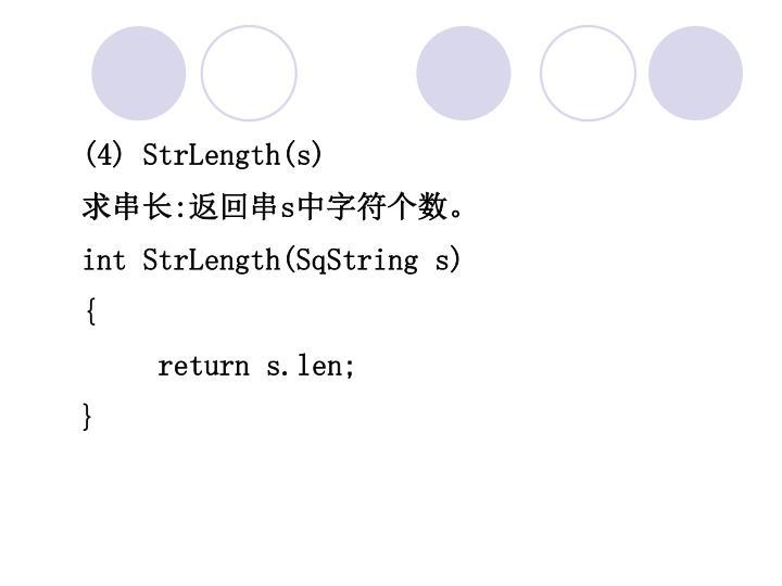 (4) StrLength(s)