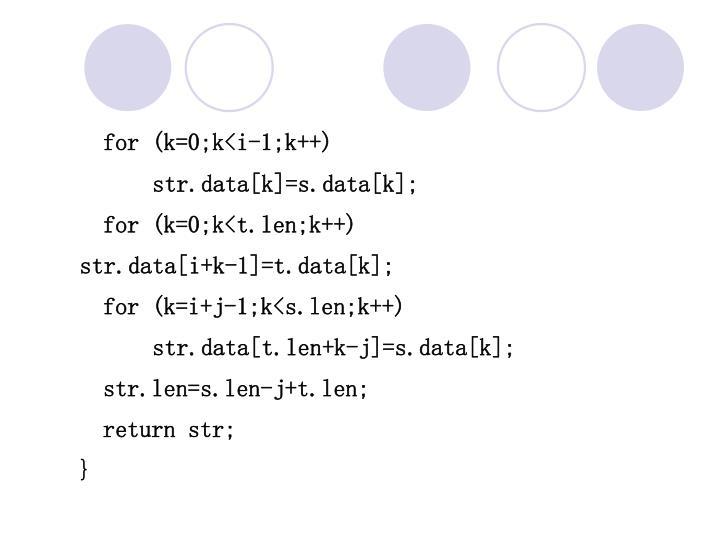 for (k=0;k<i-1;k++)