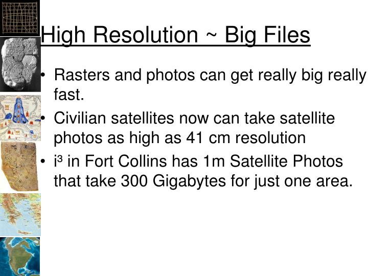 High Resolution ~ Big Files