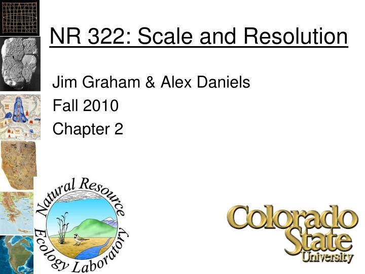 Nr 322 scale and resolution