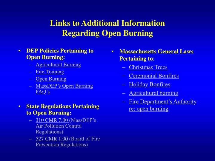 Massachusetts General Laws Pertaining to