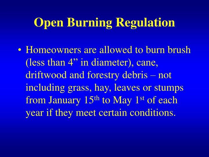 Open Burning Regulation