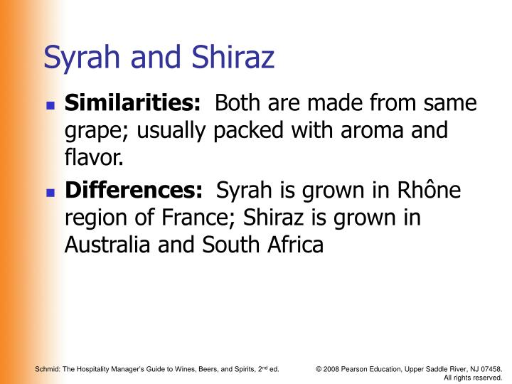 Syrah and shiraz