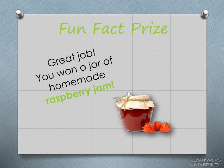 Fun Fact Prize