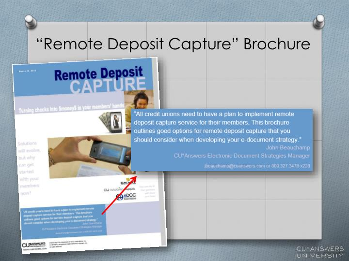"""Remote Deposit Capture"" Brochure"