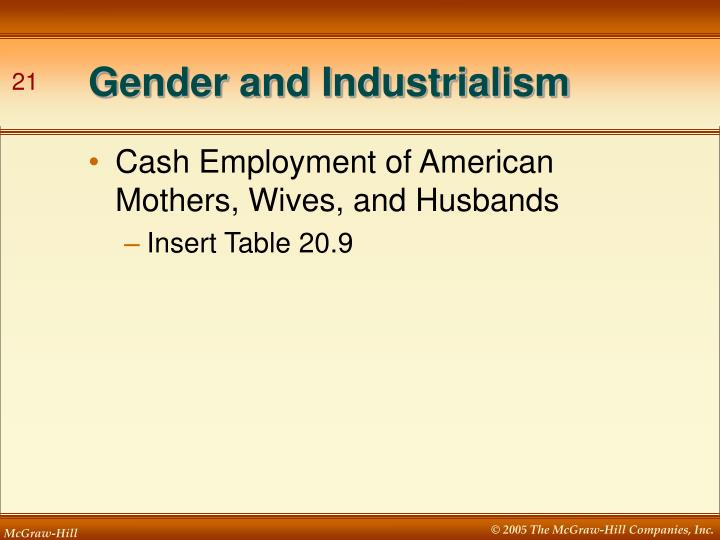 Gender and Industrialism