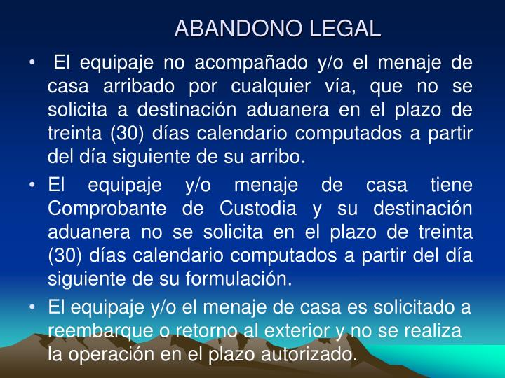 ABANDONO LEGAL