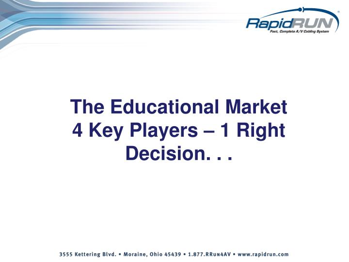 The Educational Market