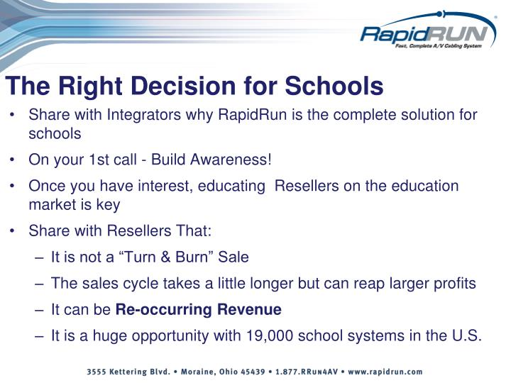 The Right Decision for Schools