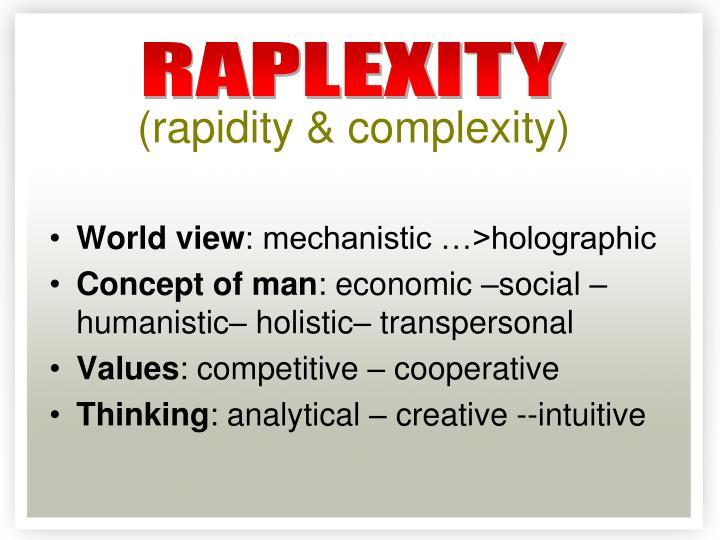 (rapidity & complexity)