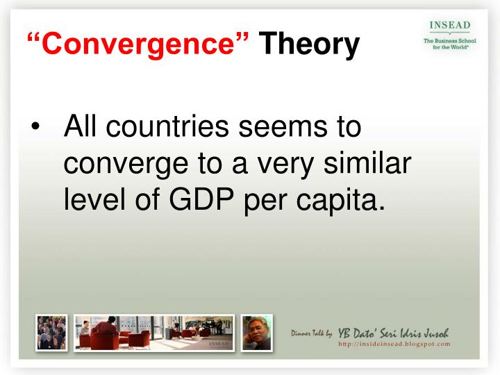 All countries seems to converge to a very similar level of GDP per capita.