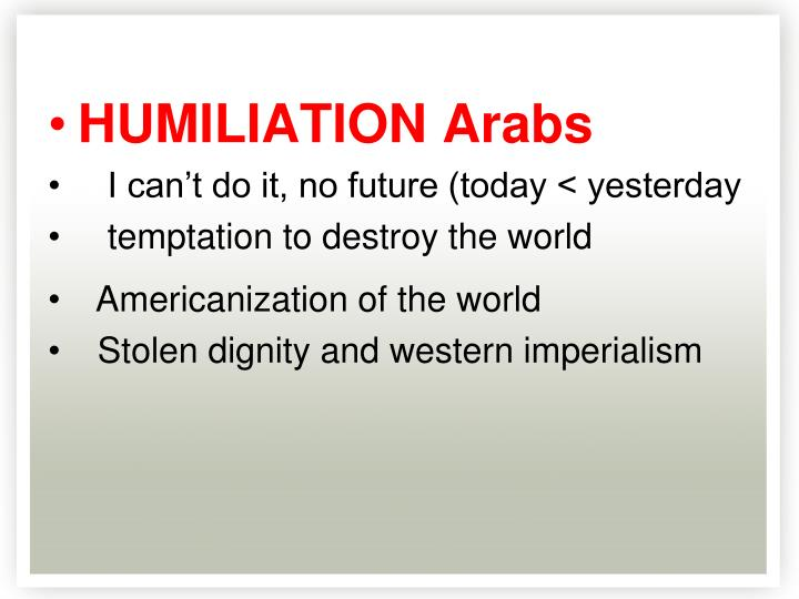 HUMILIATION Arabs