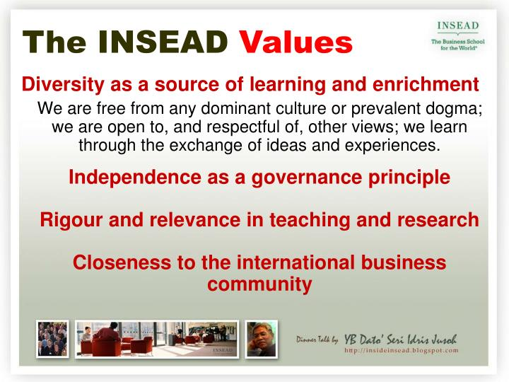 The INSEAD