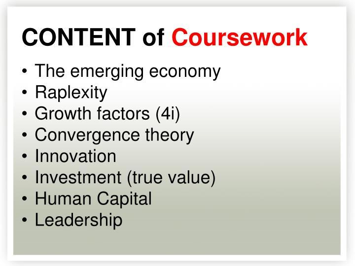 The emerging economy