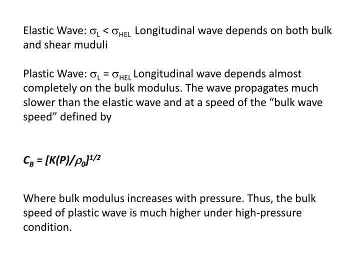 Elastic Wave: