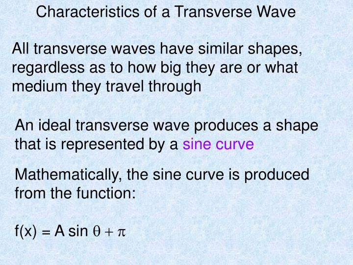 Characteristics of a Transverse Wave
