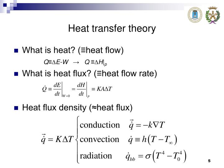Heat transfer theory