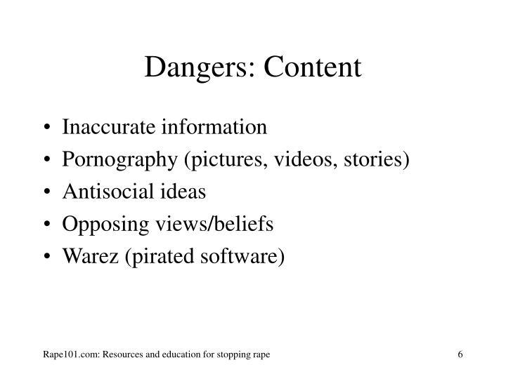 Dangers: Content
