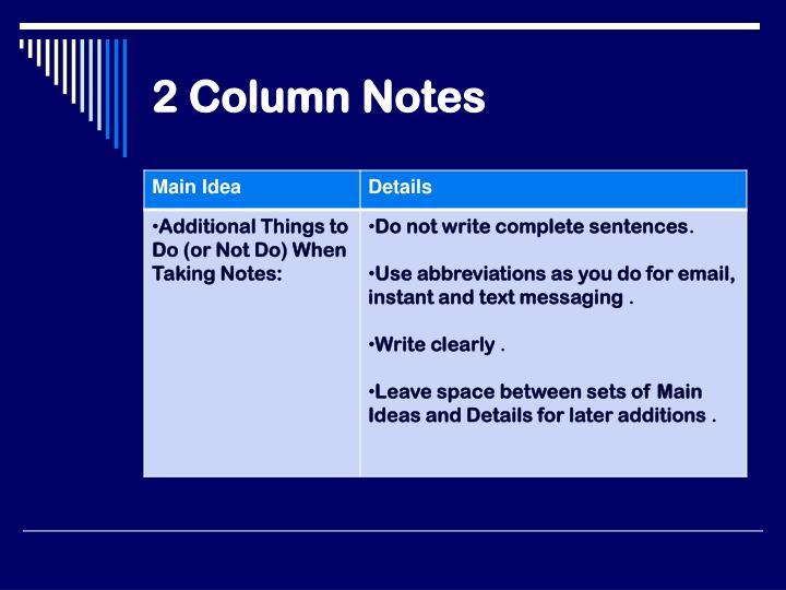 2 Column Notes