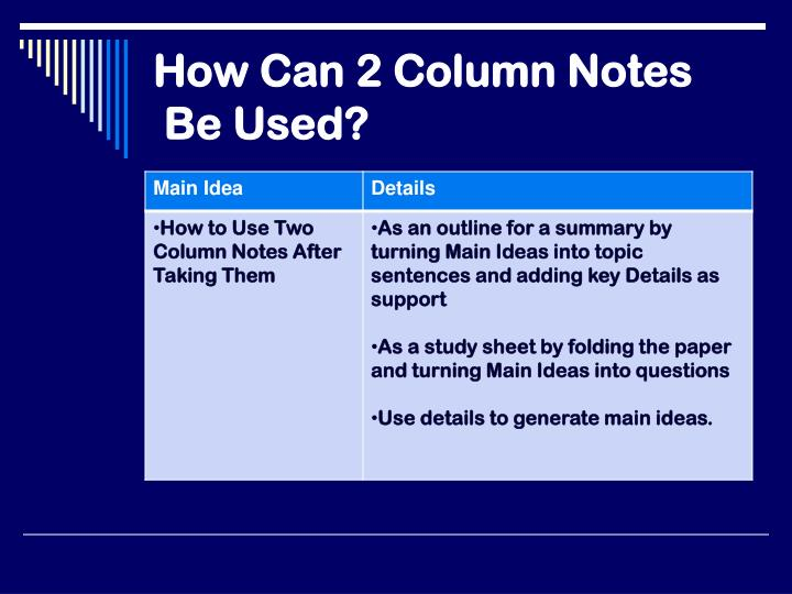 How Can 2 Column Notes