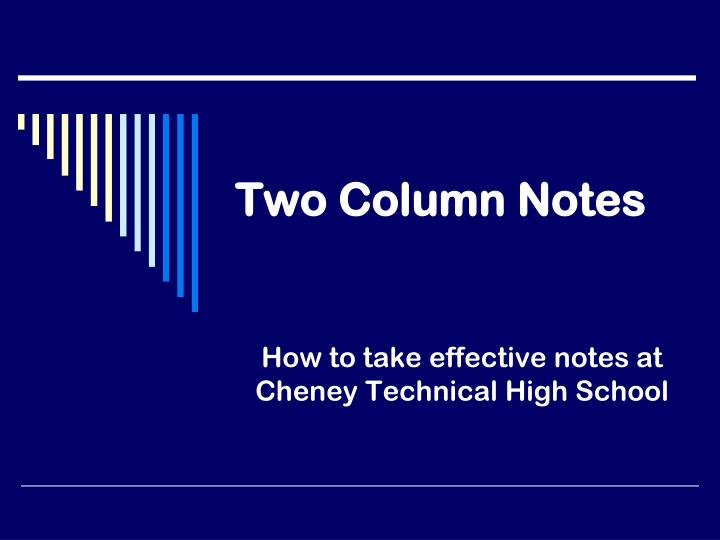 Two Column Notes