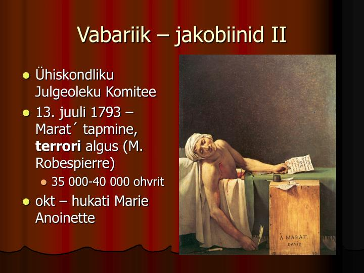 Vabariik – jakobiinid II