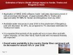 estimates of future climate change impact to vardar treska and bregalnica rivers
