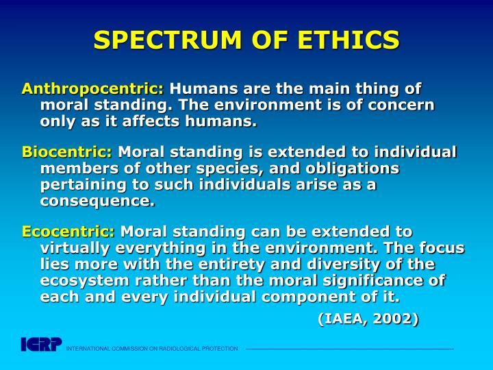 SPECTRUM OF ETHICS