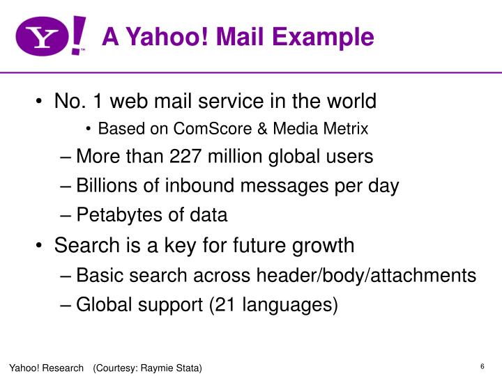 A Yahoo! Mail Example