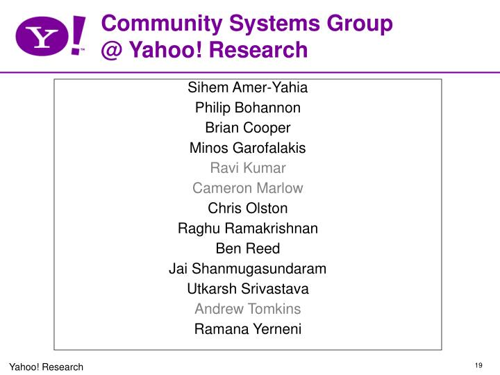 Community Systems Group
