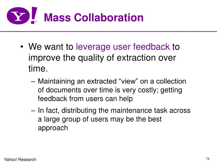 Mass Collaboration