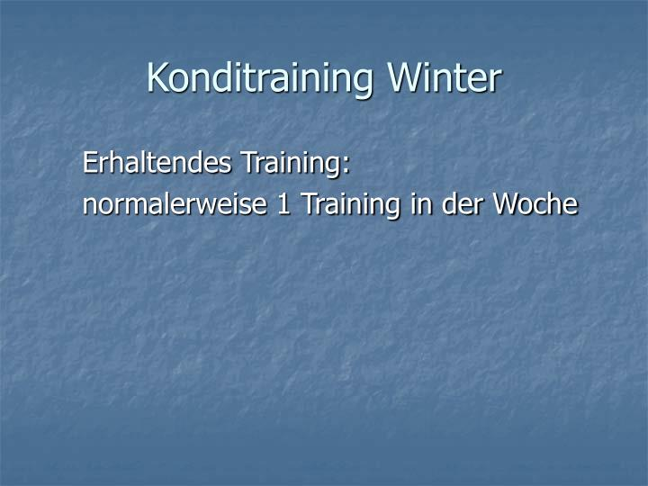 Konditraining Winter