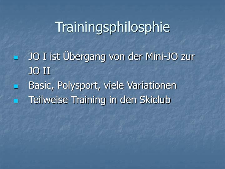 Trainingsphilosphie