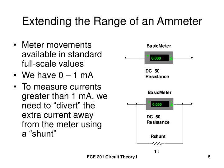 Extending the Range of an Ammeter
