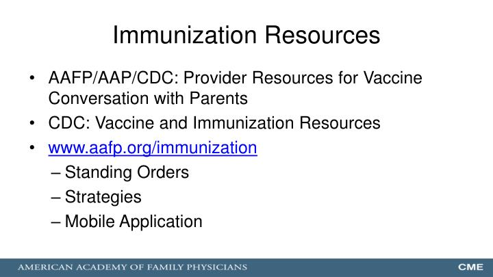 Immunization Resources