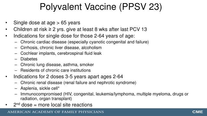 Polyvalent Vaccine (