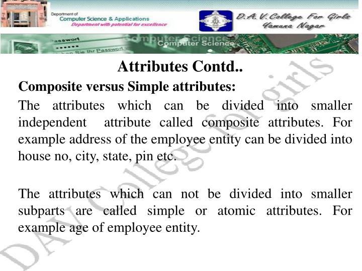 Attributes Contd..
