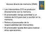 acceso directo de memoria dma