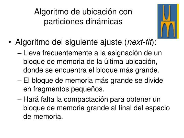 Algoritmo del siguiente ajuste (