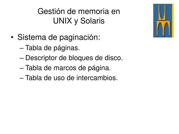 Sistema de paginación: