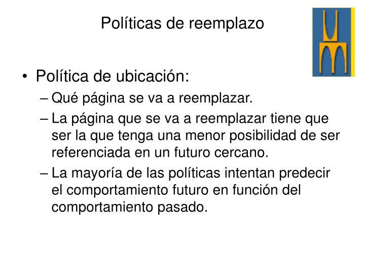 Política de ubicación: