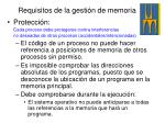 requisitos de la gesti n de memoria1