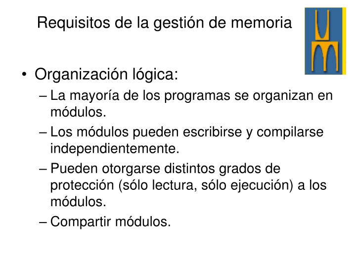 Organización lógica: