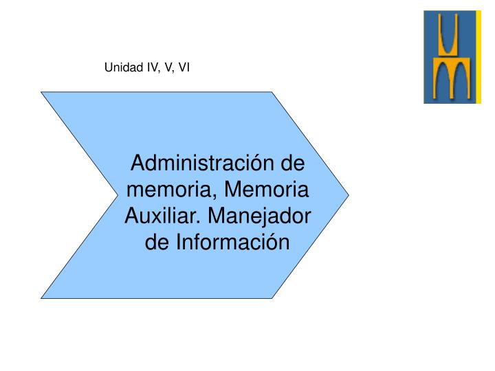 Unidad IV, V, VI